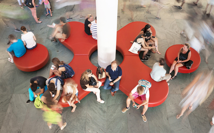 Moma aerial view of lobby 'unity' seating-1287-xxx